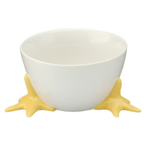 Set of 6 Chicken Feet Bowls with Yellow Feet by BIA