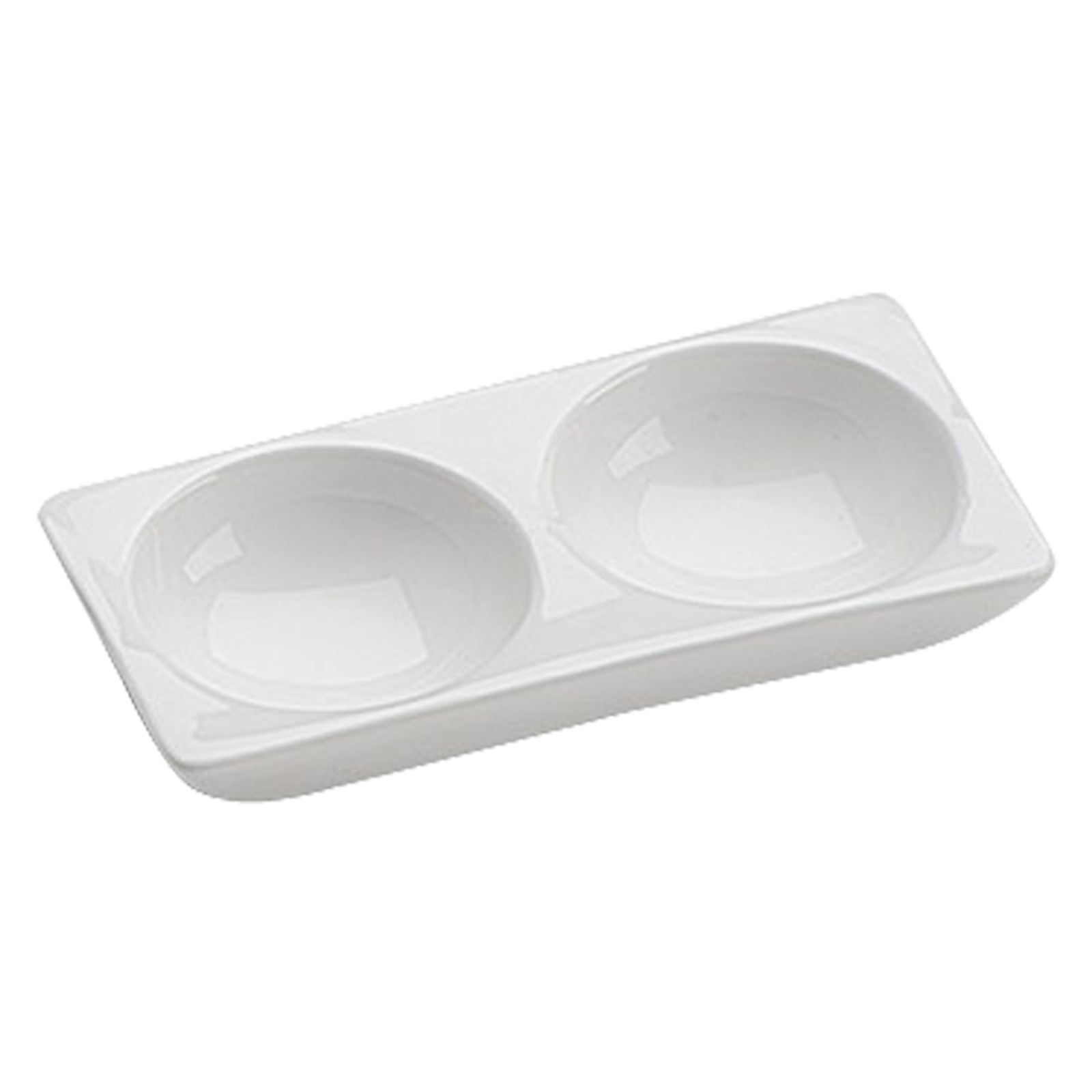 Set of 6, 2 Section Rectangular Dishes by BIA