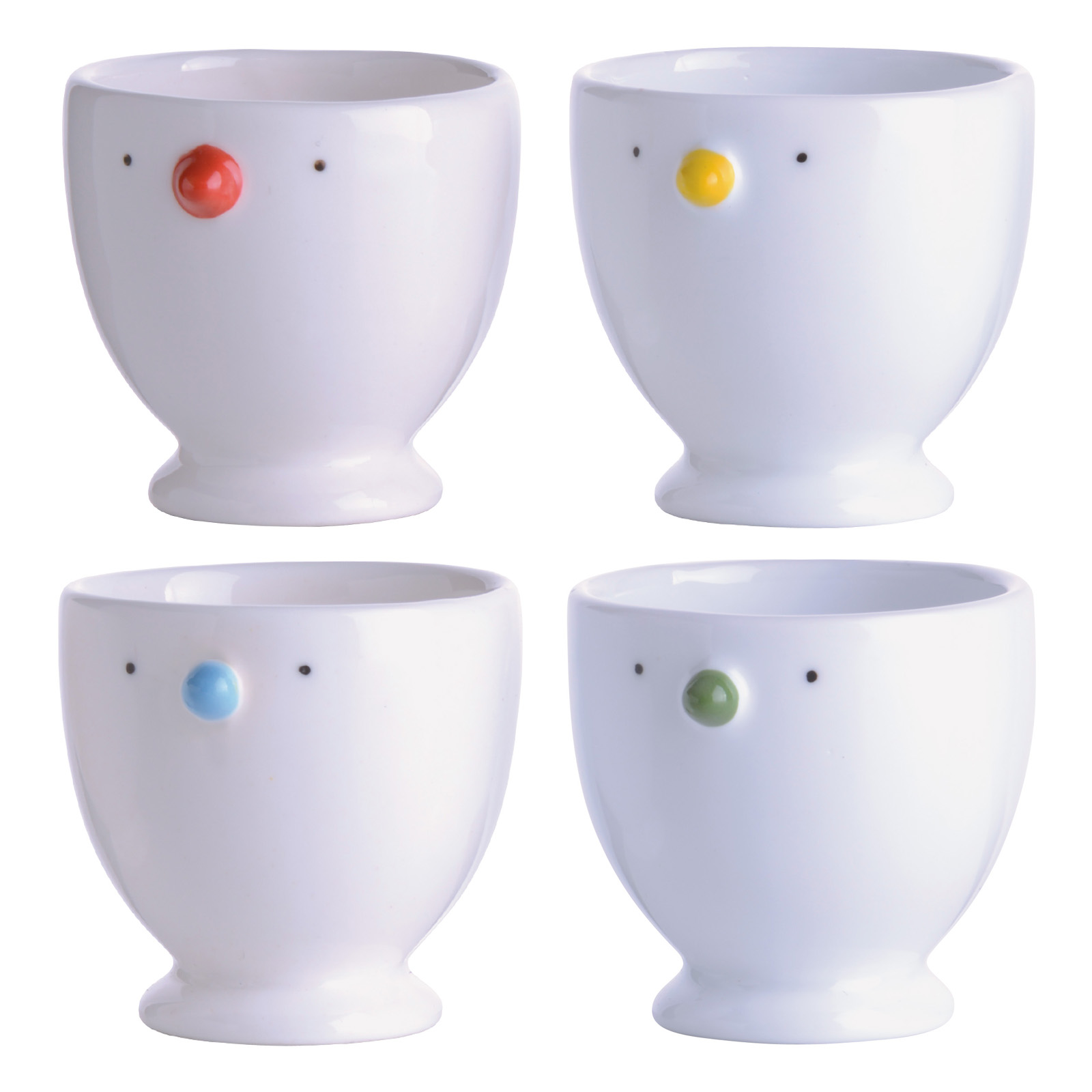 Set Of 4 Egg Cups By Bia