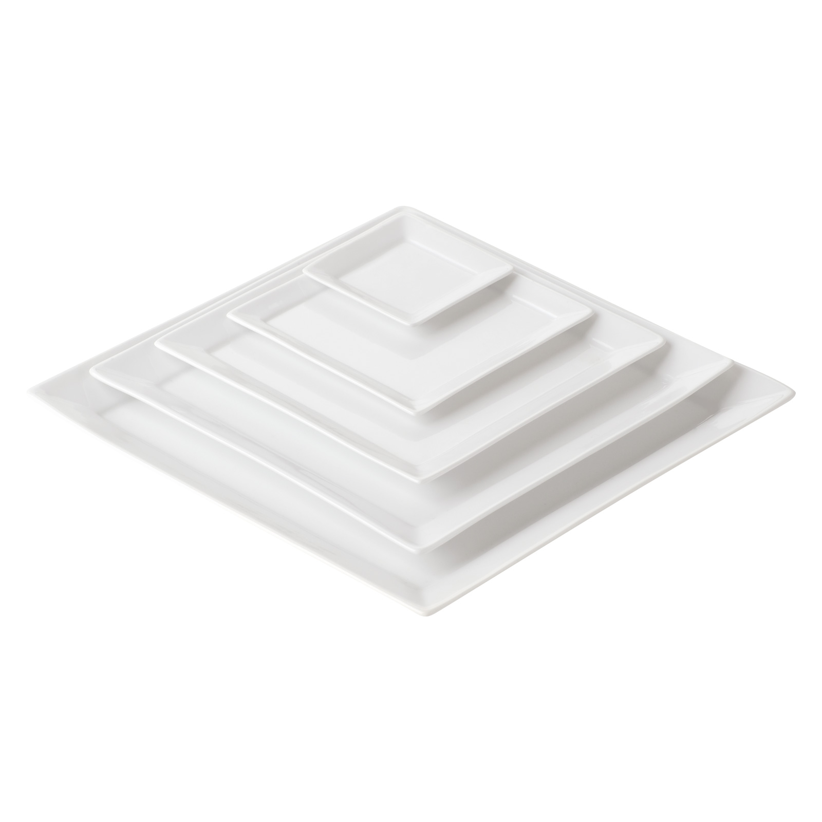 Set of 4 Zensation Square Trays Extra Large by BIA