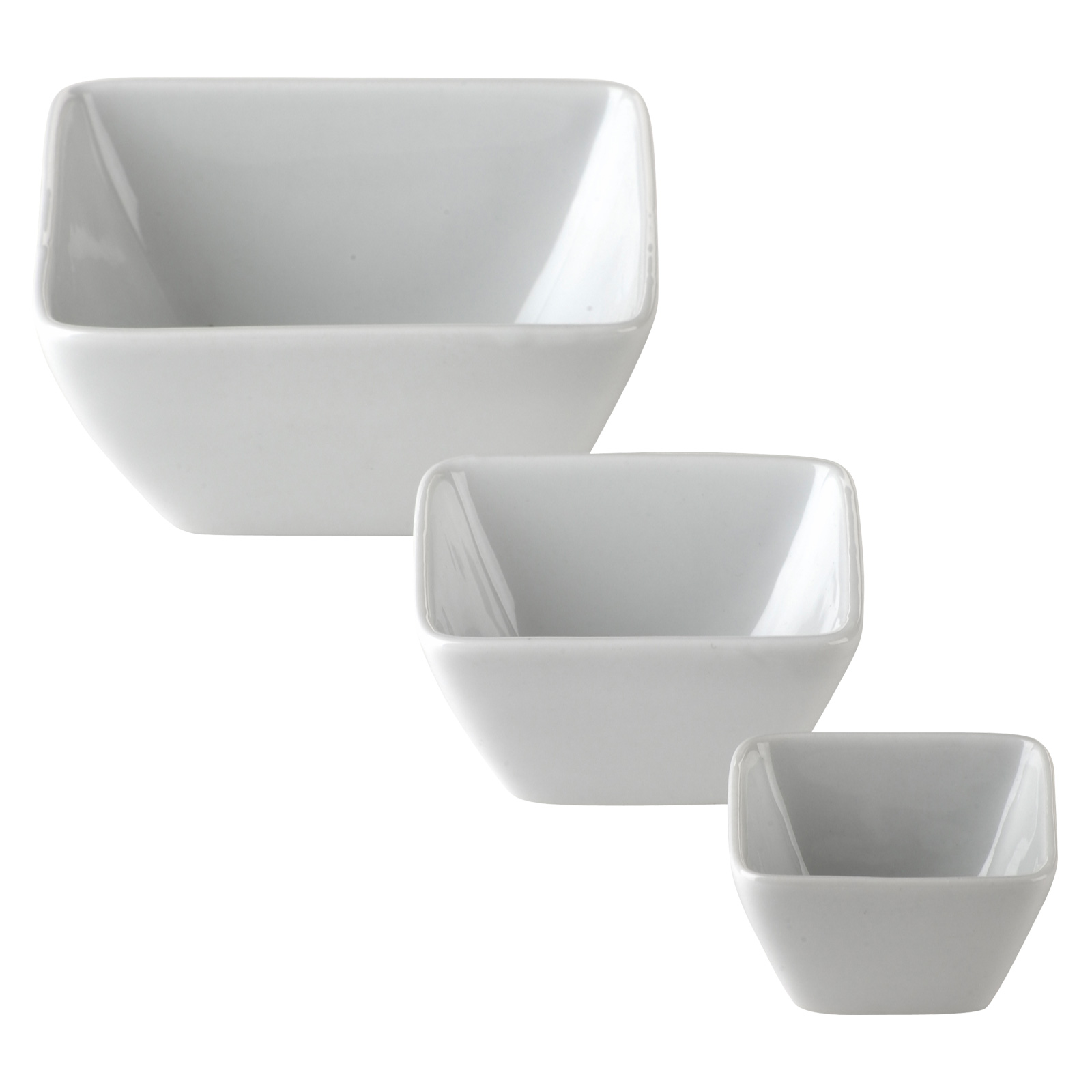 Set of 12 Zensation Square Bowls Small by BIA