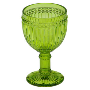 Set of 6 Loire Wine Glasses Green by Anton Studio Designs