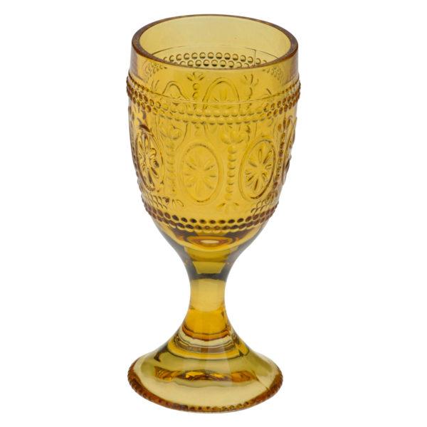 Set of 6 Savoie Goblets Amber by Anton Studio Designs