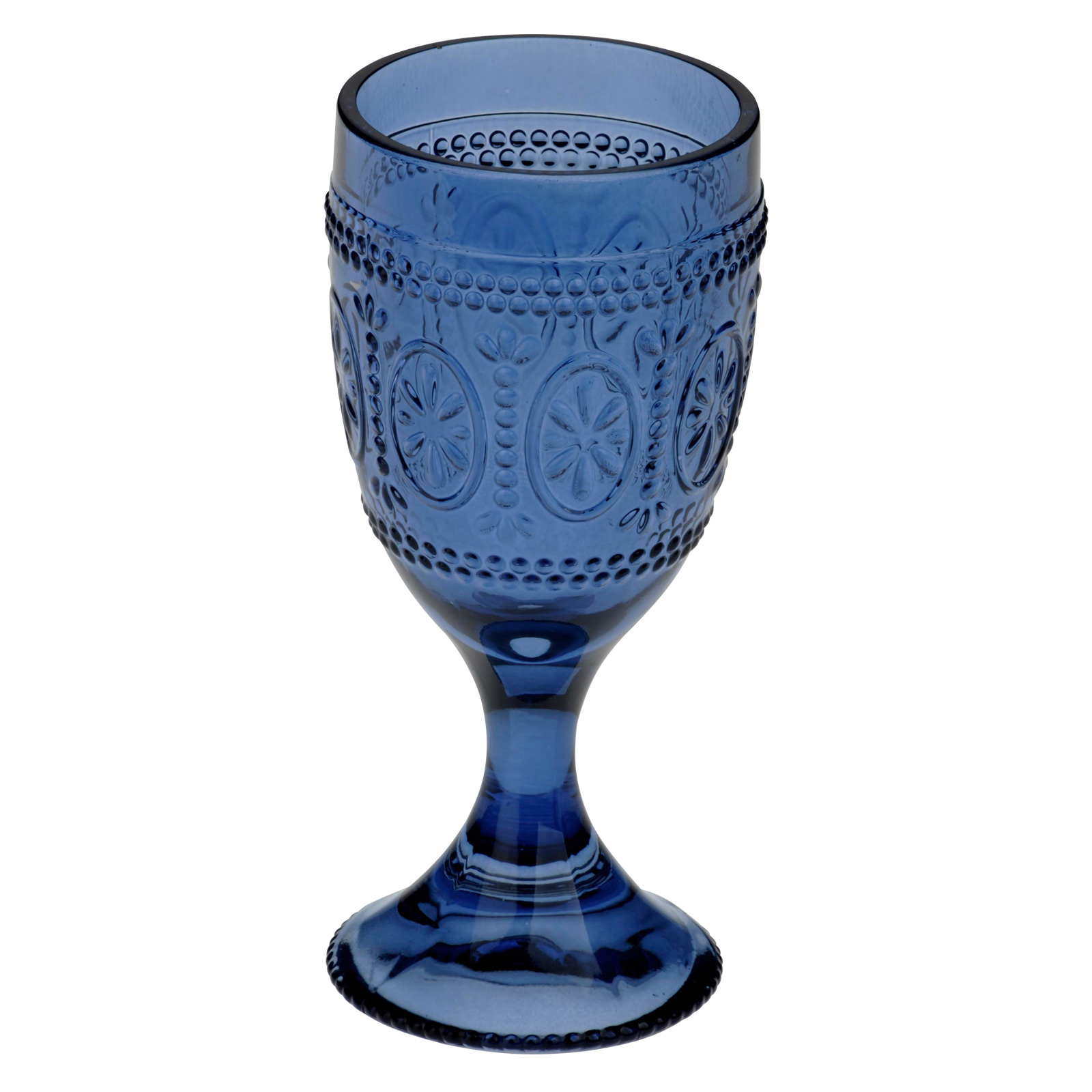 Set of 6 Savoie Goblets Dark Blue by Anton Studio Designs