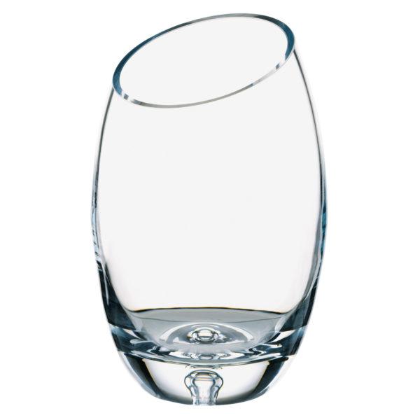 Bubble Base Bias Cut Vase by Dornberger