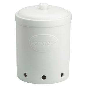 Potato Storage Jar Matte White by BIA