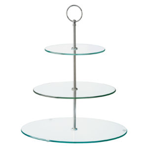Glass Three Tiered Cake Stand by BIA