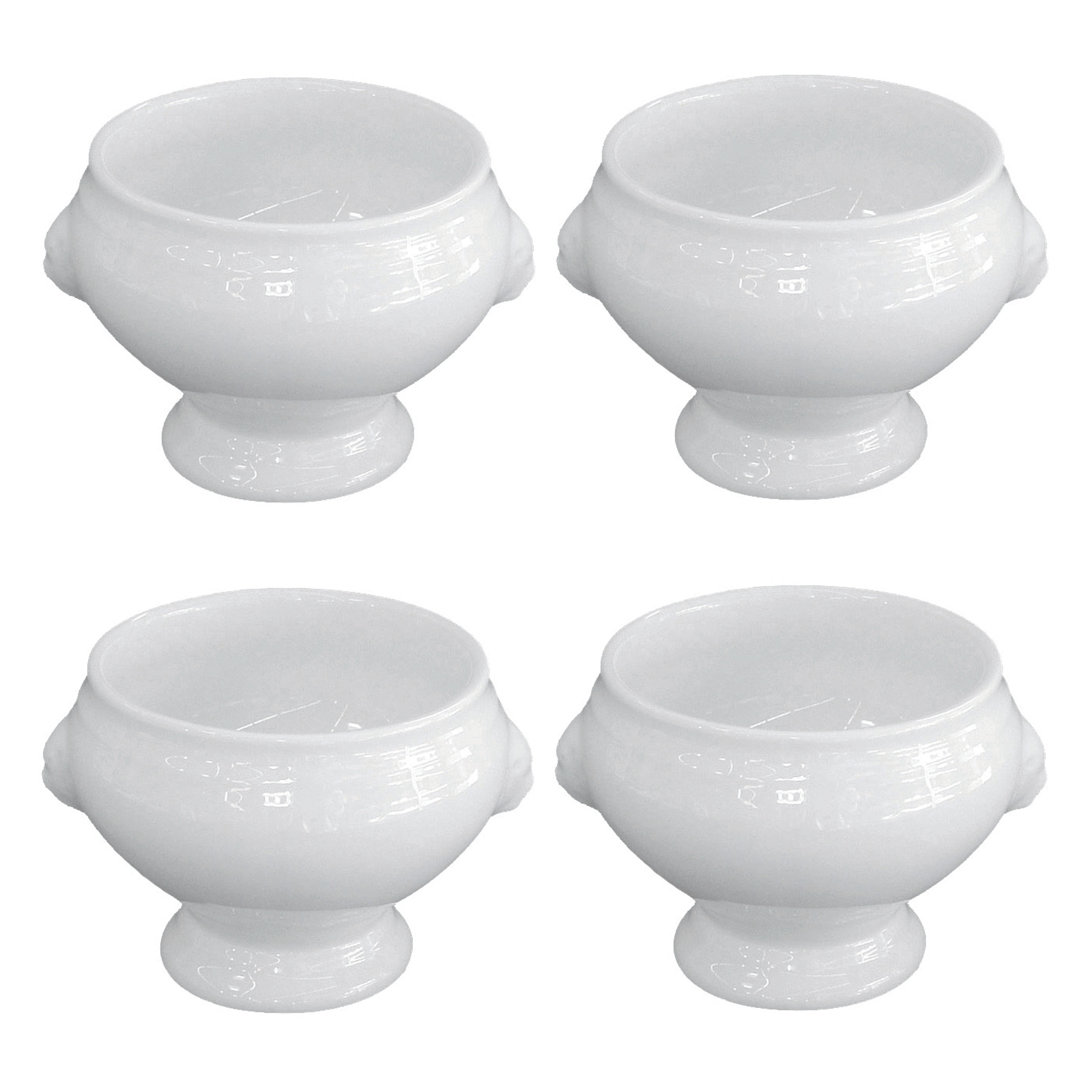 Set of 4 Individual Lion Head Soup by BIA