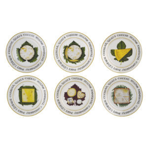 Set of 6 The Cheese Board Plates by BIA