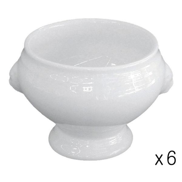 Set of 6 Mini Lion Head Soup Bowls by BIA
