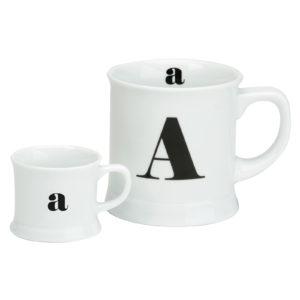 Post Script Espresso & Mug Set, Letter A