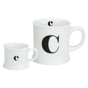 Post Script Espresso & Mug Set, Letter C