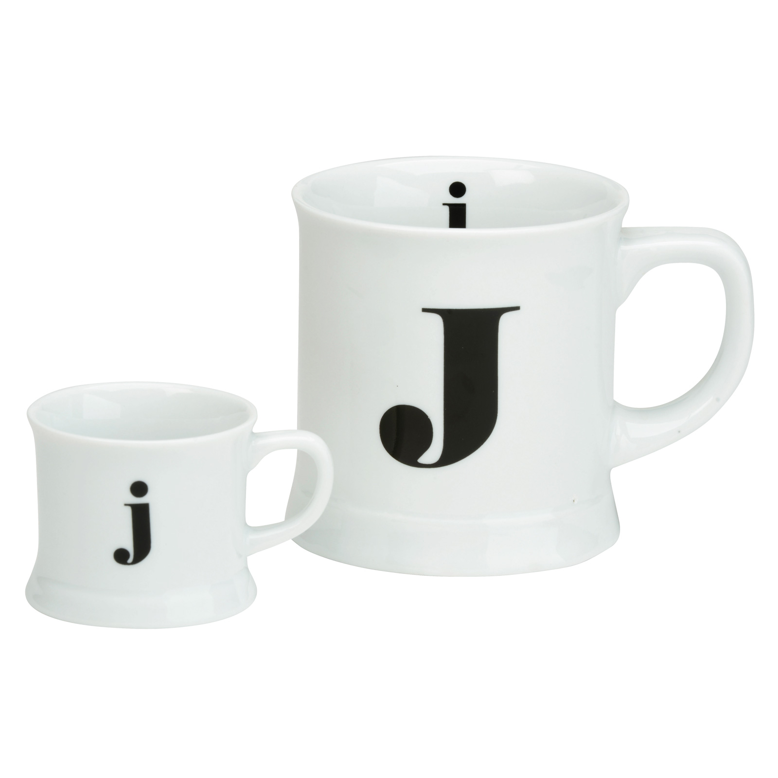 Post Script Espresso & Mug Set, Letter J
