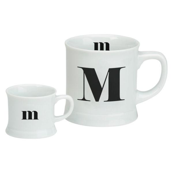 Post Script Espresso & Mug Set, Letter M