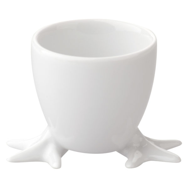 Set of 4 Chicken Feet Egg Cups with White Feet by BIA