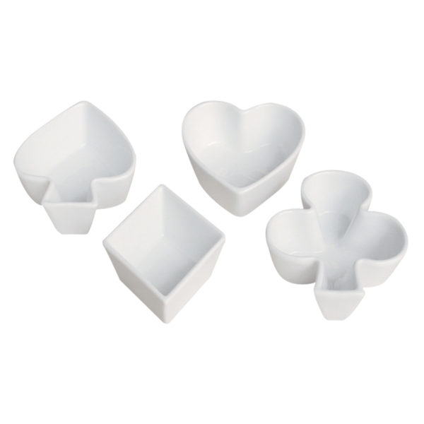 Set of 4 Card Suit Dishes by BIA