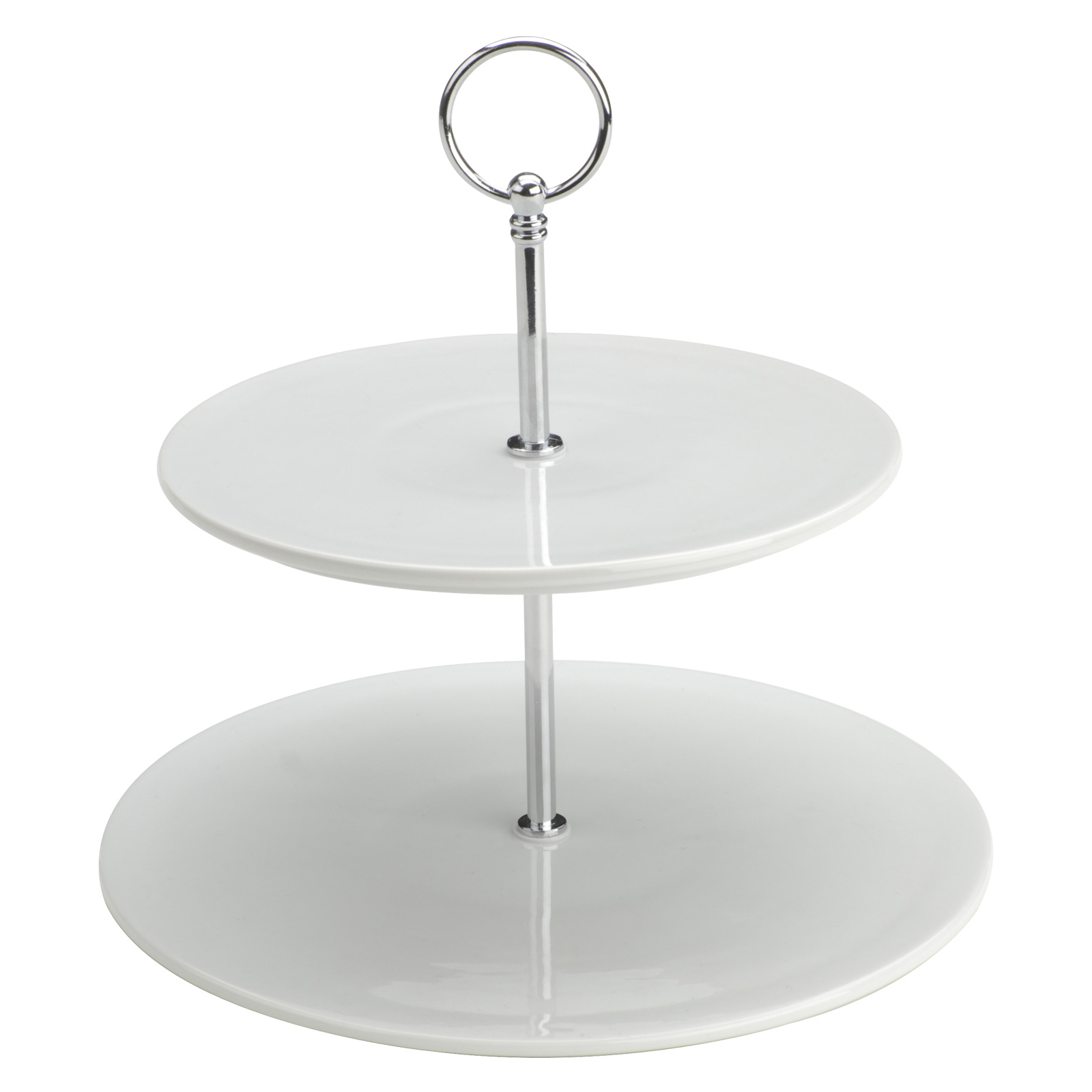 Flat Two Tiered Cake Stand by BIA
