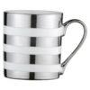 Set of 4 Stripes Mugs Platinum by BIA
