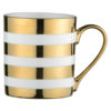 Set of 4 Stripes Mugs Gold by BIA