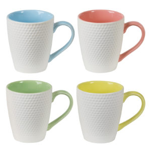Set of 4 Geo Mugs by BIA