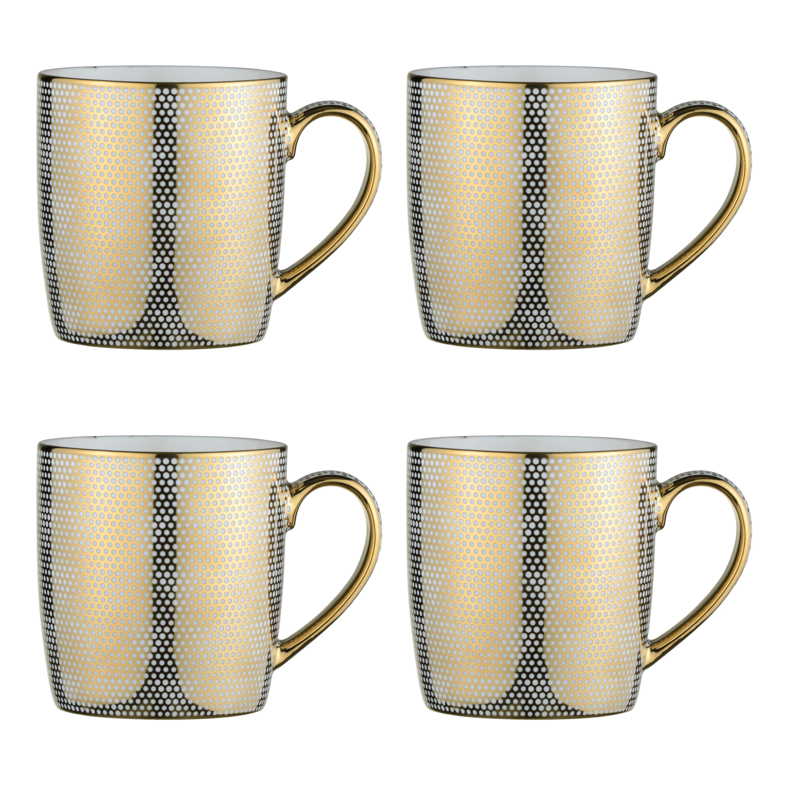 electroplated dots mugs