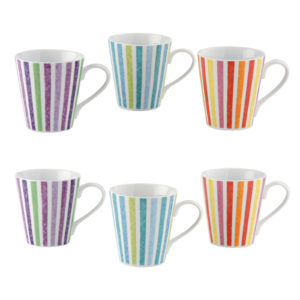 Set of 6 Dolce Vita Mugs by BIA