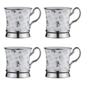 Set of 4 Lattice Mugs Gold by BIA