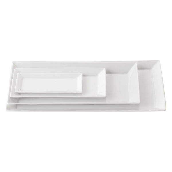 Set of 6 Zensation Rectangular Trays Small  by BIA