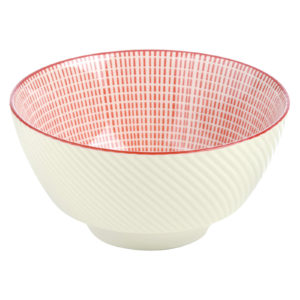 Set of 4 Tao Rice Bowls Red by BIA