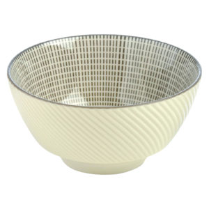 Set of 4 Tao Rice Bowls Grey by BIA