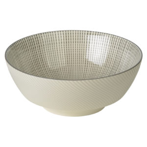 Set of 2 Tao Noodle Bowls Grey by BIA