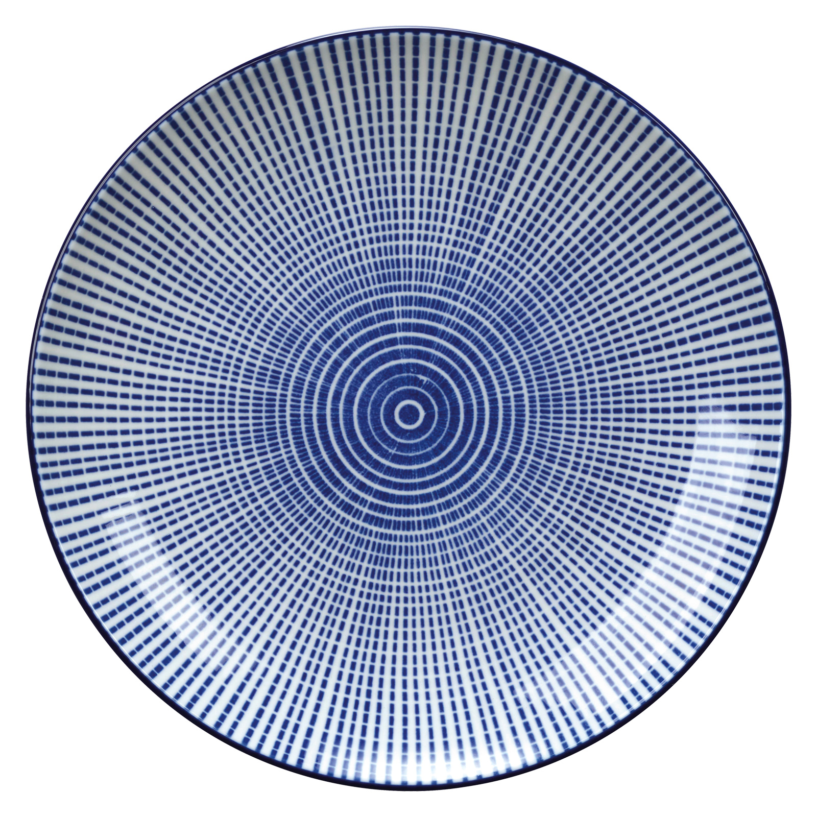 Set of 4 Tao Plates Blue by BIA