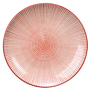 Set of 4 Tao Plates Red by BIA