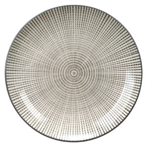 Set of 4 Tao Plates Grey by BIA