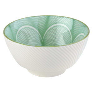 Set of 4 Spyro Rice Bowls Green by BIA