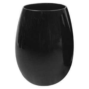 Set of 2 Midnight Stemless Wines Black by Artland