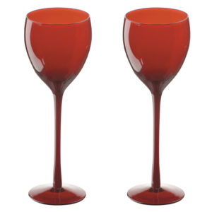 Midnight Flutes Red - Set of 2