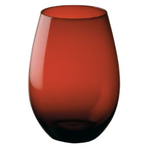 Set of 2 Midnight Stemless Wines Red by Artland