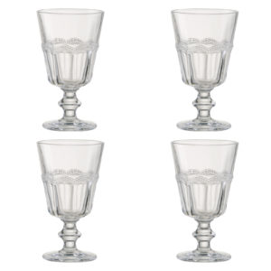 Set of 4 Pearl Ridge Wine Goblets by Artland
