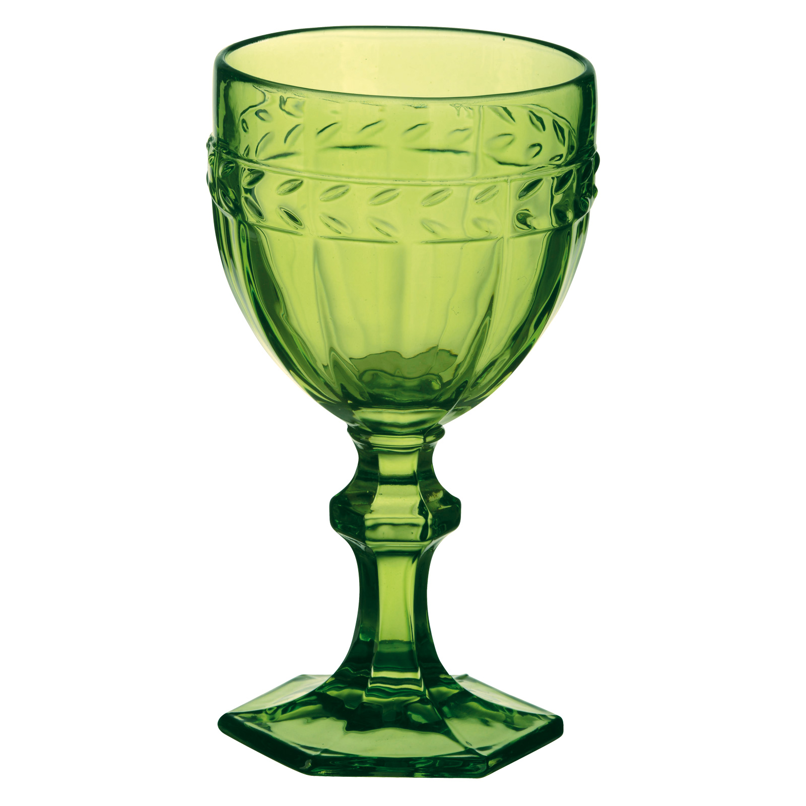 Set of 6 Camargue Goblets Green  by Anton Studio Designs