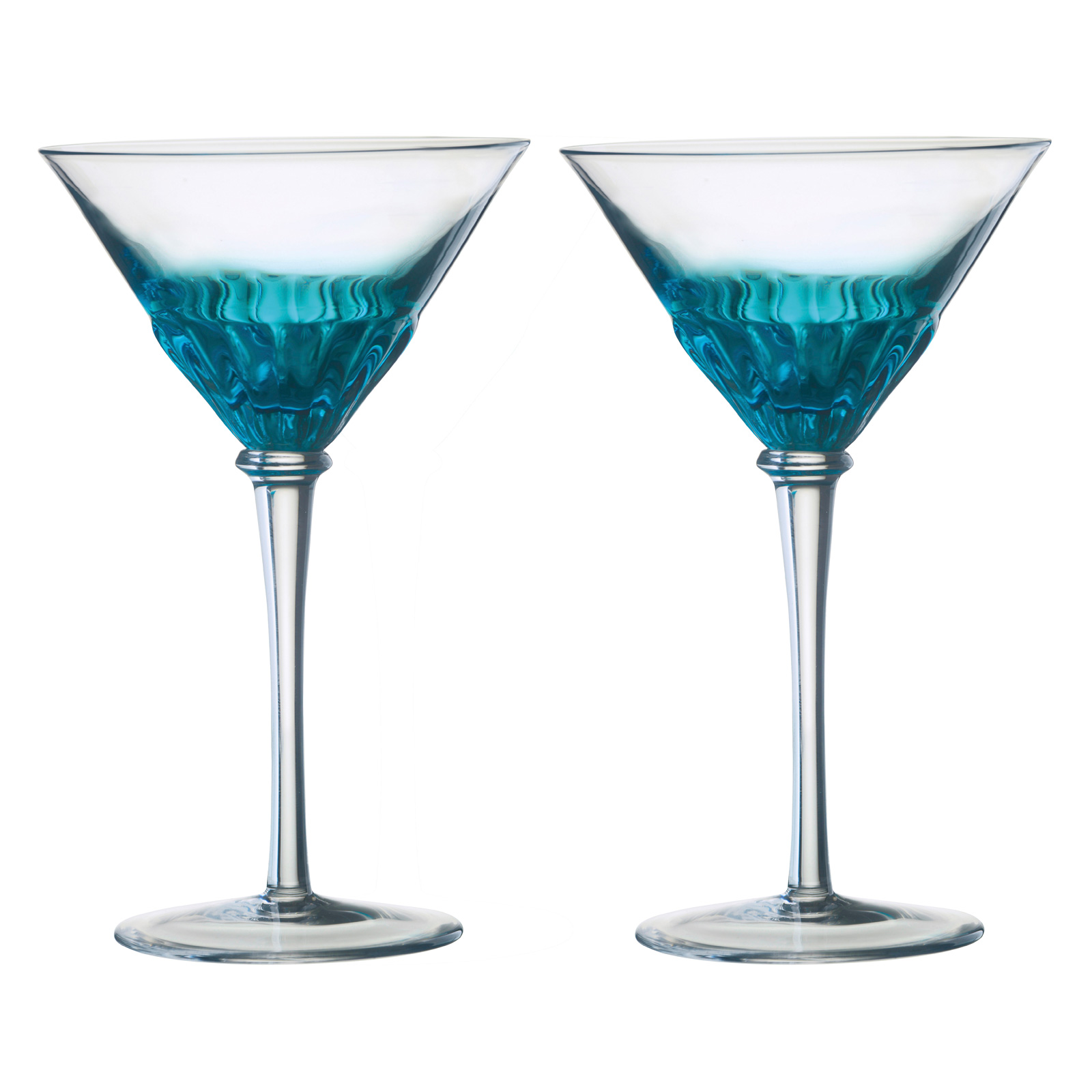 Set of 2 Solar Cocktail Glasses Blue by Anton Studio Designs
