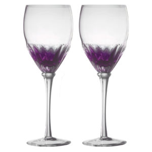 Set of 2 Solar Wine Glasses Purple by Anton Studio Designs