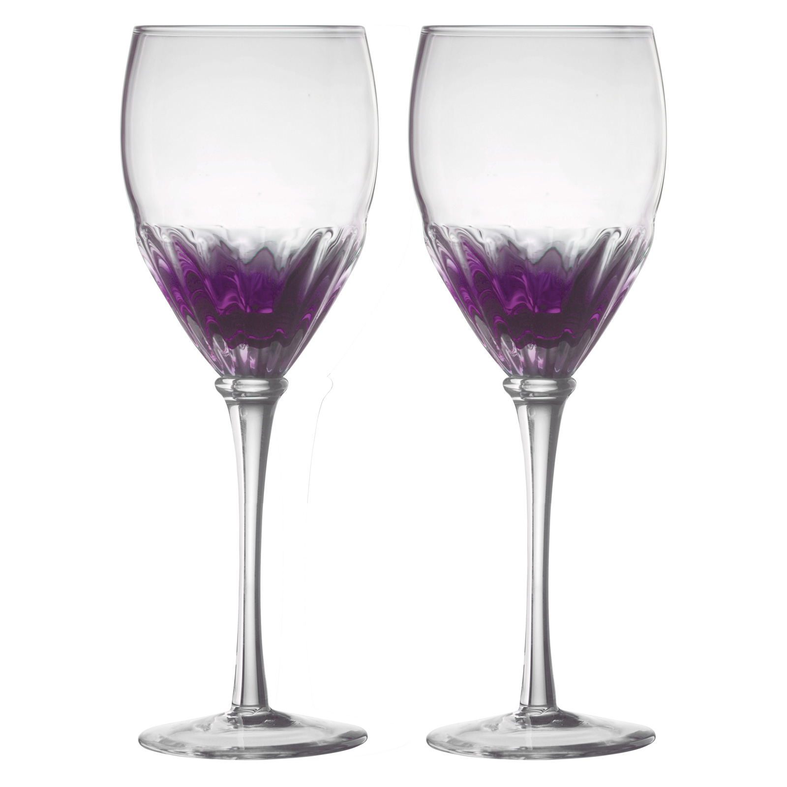 Set of 2 Solar Wine Glasses Purple by Anton Studio Designs