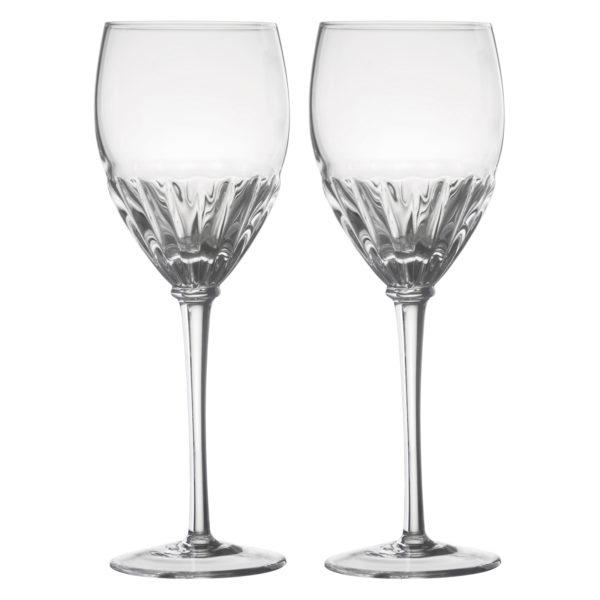 Set of 2 Solar Wine Glasses Clear by Anton Studio Designs