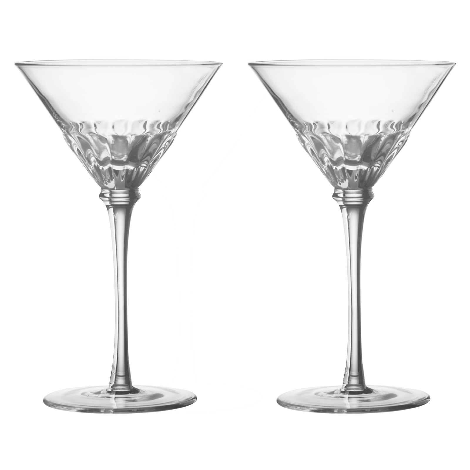 Set of 2 Solar Cocktail Glasses Clear by Anton Studio Designs