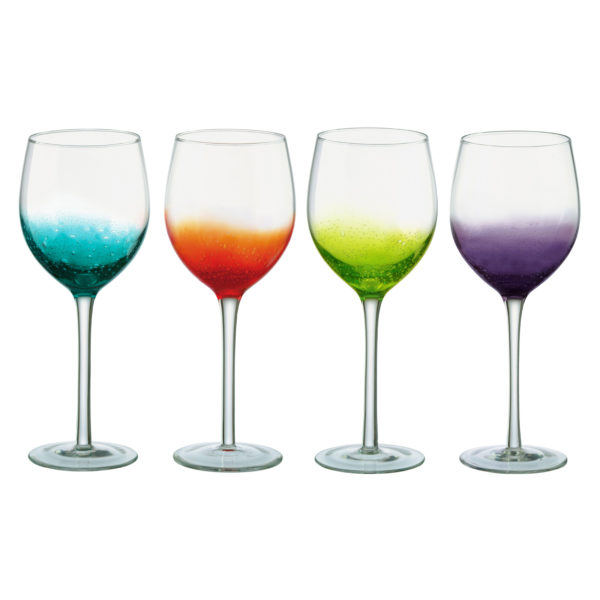 Set of 4 Fizz Wine Glasses by Anton Studio Designs