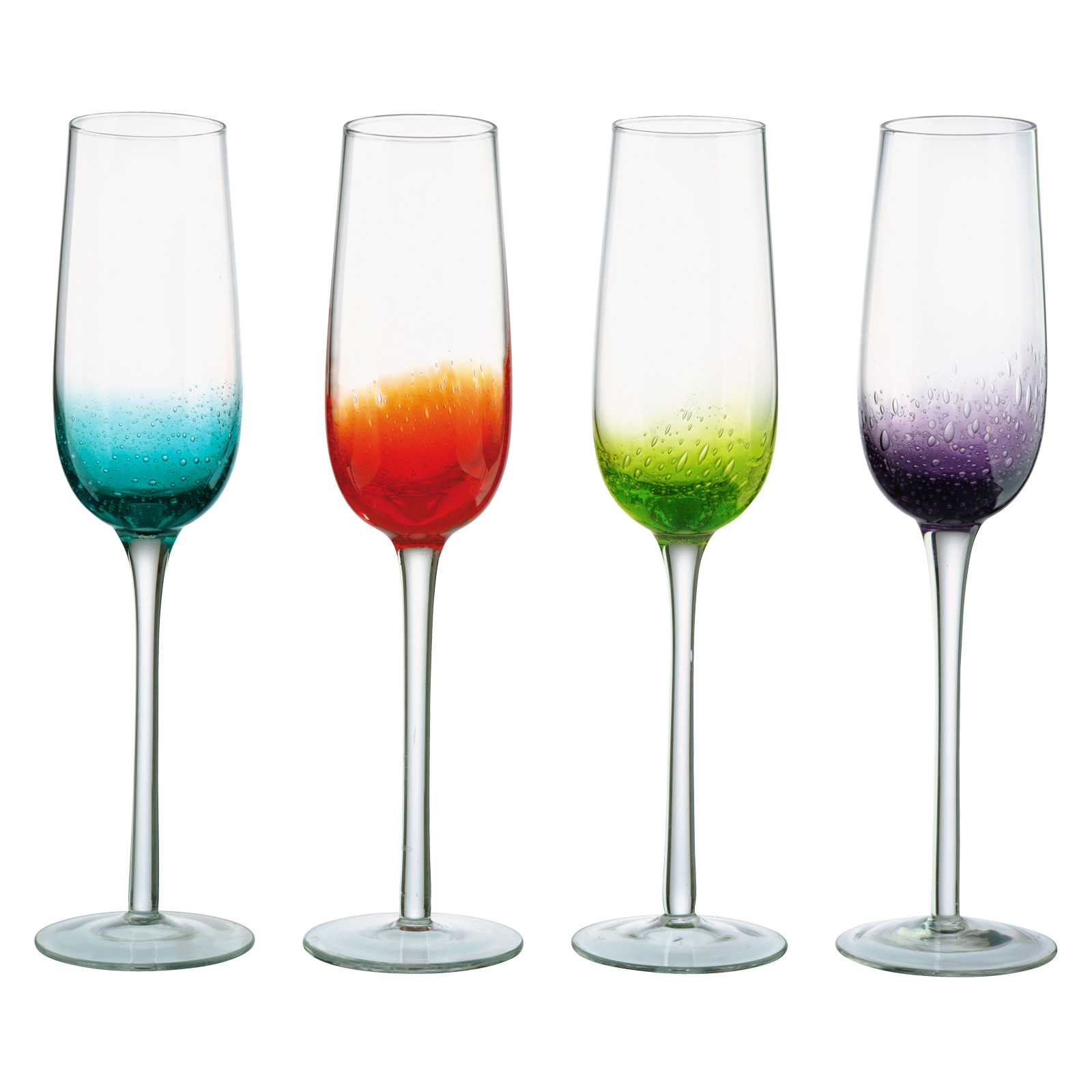 Set of 4 Fizz Champagne Flutes by Anton Studio Designs