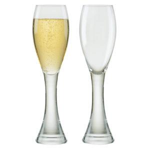 Set of 2 Manhattan Champagne Flutes by Anton Studio Designs