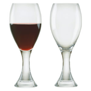 Set of 2 Manhattan Red Wine Glasses by Anton Studio Designs