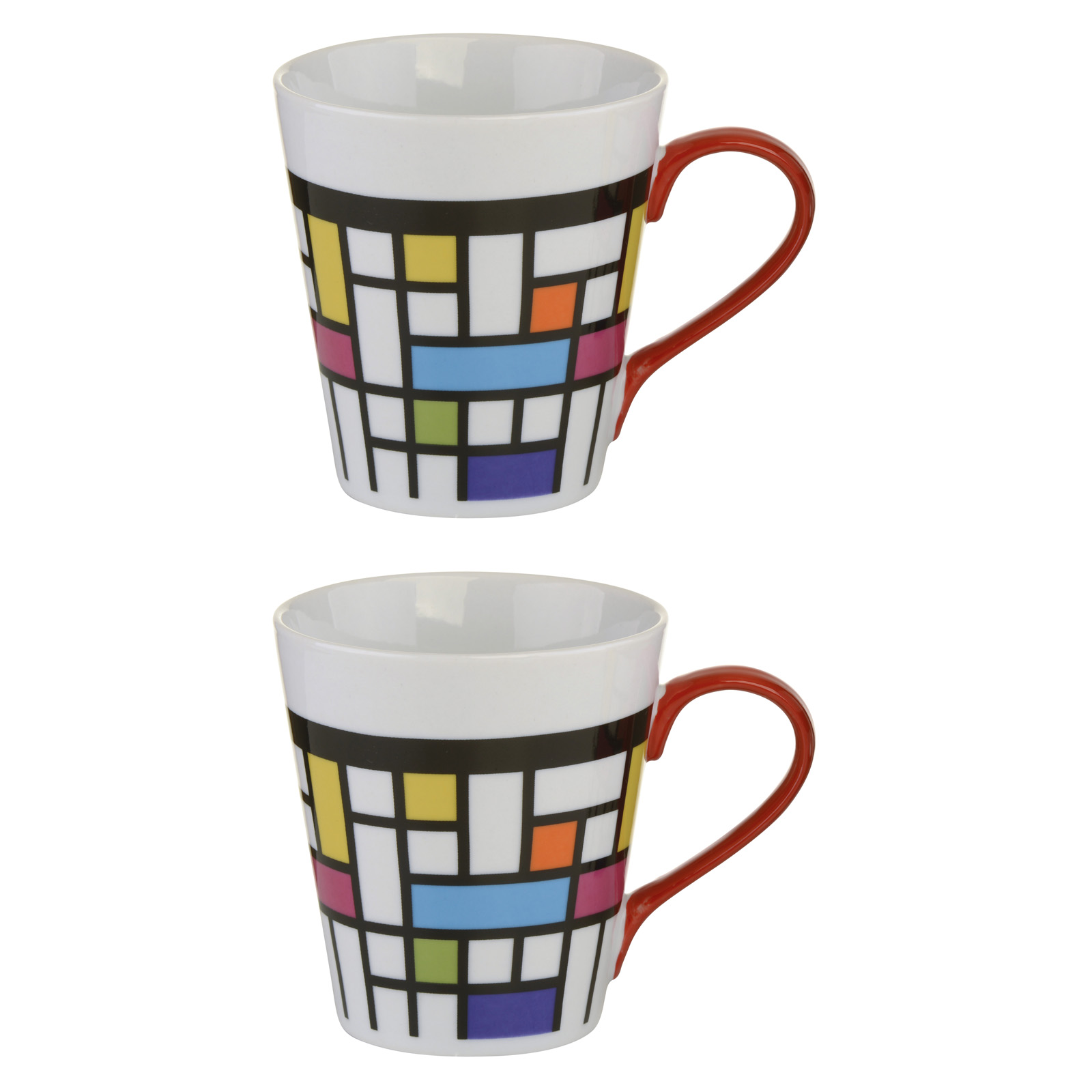 Set of 2 Mosaic Mugs by BIA